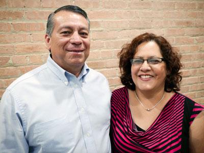 Vicente y Leticia Dominguez sirven como lideres del ministerio de visitas